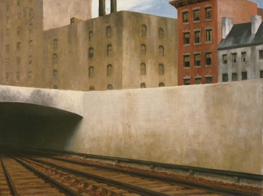 Approaching a City, 1946.g.; autor: Edward Hopper