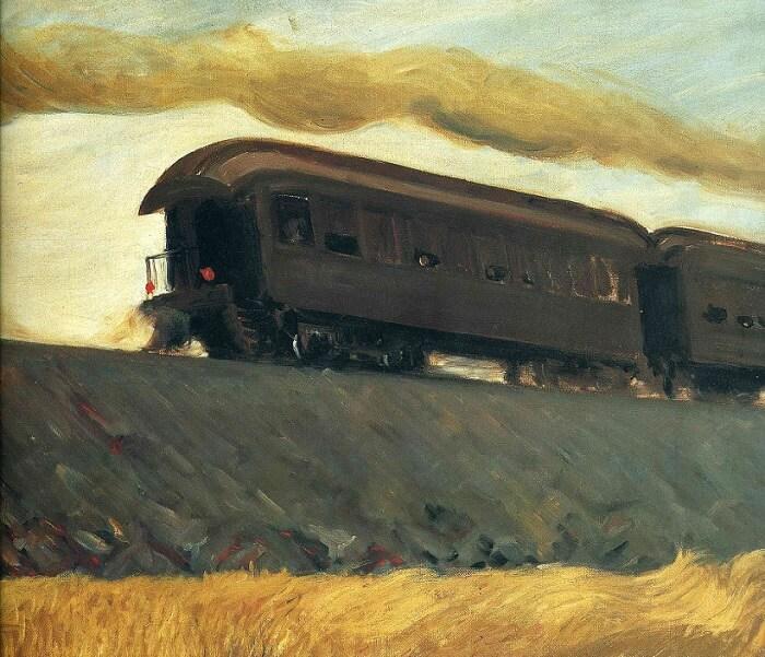 Railroad Train, 1908.g.; autor: Edward Hopper