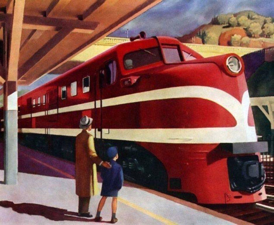 American Locomotive, 1944.g.; autor: Edward Hopper