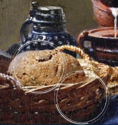 prikaz trodimenzinalnosti koju je Vermeer postigao koristivši pointillé tehniku