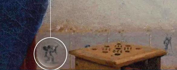 prikaz Kupida na pločici na zidu